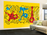 Untitled Pop Art Vægplakat, stor af Keith Haring