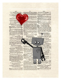 Robot Love Prints by Matt Dinniman