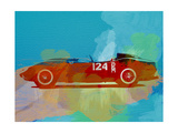 Ferrari Testa Rossa Watercolor 1 Metal Print by  NaxArt