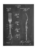 Dinner Fork Patent Metal Print