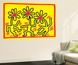 Untitled Pop Art Mural Premium por Keith Haring