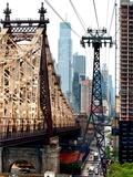 Roosevelt Island Tram and Ed Koch Queensboro Bridge (Queensbridge) Views, Manhattan, New York, US Metal Print by Philippe Hugonnard