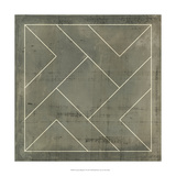 Geometric Blueprint VI Metal Print