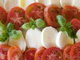 Tomatoes, Basil and Mozzarella Cheese Metal Print by Olivier Cirendini