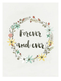 Wreath Forever And Ever Prints by Ivana Sepa