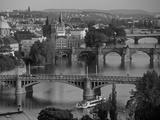 Charles Bridge, Prague, Czech Republic Papier Photo par Walter Bibikow