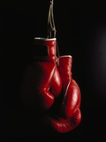 Hanging Boxing Gloves Metal Print by Ernie Friedlander