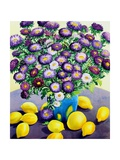 Purple Asters and Lemons Giclee Print by Christopher Ryland