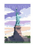 Statue of Liberty National Monument - New York City, NY Metal Print by  Lantern Press