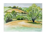 Suffolk Landscape, View from Dalham Church, 2011 Giclee Print by Joan Thewsey