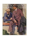 Hart Schaffner and Marx American Clothes Adverising Poster College Boys Metal Print