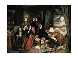Liszt at the Piano Metal Print by Josef Danhauser