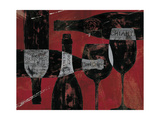 Wine Selection III Red Metal Print by Daphne Brissonnet