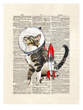 Space Cat Prints by Matt Dinniman