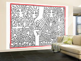 The Marriage of Heaven and Hell, 1984 Wall Mural – Large by Keith Haring