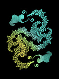 Dragons Blow - Chinese Dragon Yin Yang Plakaty autor Boots