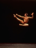 "Dancer Edward Villella Leaping Through Air in Performance of George Balanchine's ""The Prodigal Son"" Metal Print by Bill Eppridge"