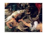 Hippopotamus and Crocodile Hunt, circa 1615-16 Metal Print by Peter Paul Rubens