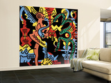 Untitled Pop Art Wall Mural – Large by Keith Haring