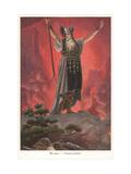 Wotan, Fire Spell Metal Print