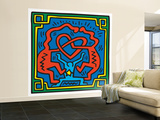 Untitled Pop Art Gran mural por Keith Haring