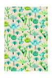 Les Jardins Majorelle - Cacti Giclee Print by Jacqueline Colley