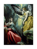 The Annunciation, circa 1575 Metal Print by  El Greco
