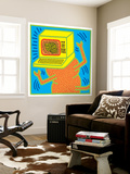 Untitled Pop Art Carta da parati decorativa di Keith Haring