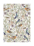 Woodland Edge Birds Giclee Print by Jacqueline Colley