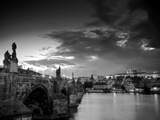 Czech Republic, Prague, Stare Mesto (Old Town), Charles Bridge, Hradcany Castle and St. Vitus Cathe Photographic Print by Michele Falzone