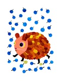Guinea Pig and Blueberries Giclee Print by Anne Vasko