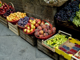 Assorted Fresh Fruits of Berries for Sale at a Siena Market, Tuscany, Italy Metal Print by Todd Gipstein