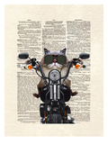 Roxie Motorcycle Poster by Matt Dinniman