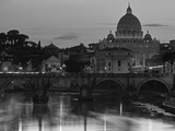 St Peter's Basilica and Ponte Saint Angelo, Rome, Italy Photographic Print by Doug Pearson