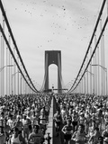 Runners, Marathon, New York, New York State, USA Fotografisk trykk av Adam Woolfitt