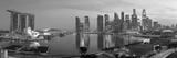 Central Business District and Marina Bay Sands Hotel, Singapore Fotografisk trykk av Jon Arnold