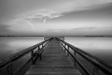 Sunrise on the Pier at Terre Ceia Bay, Florida, USA Photographic Print by Richard Duval