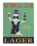 Schnauzer Lager Limited Edition by Ken Bailey