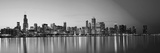 USA, Illinois, Chicago, Dusk View of the Skyline from Lake Michigan Photographic Print by Nick Ledger