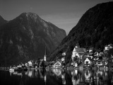 Village with Mountains and Lake, Hallstatt, Salzkammergut, Austria Photographic Print by Steve Vidler