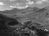 View to Llynnau Mymbyr and Mt Snowdon, North Wales Photographic Print by Peter Adams