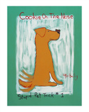 Cookie On The Nose -Stupid Pet Trick 1 - Golden Retriever Limited Edition by Ken Bailey