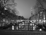 Prinsengracht and Wsterkerk, Amsterdam, Holland Photographic Print by Jon Arnold