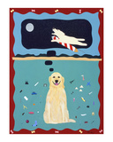 A Golden Retriever's Fantasy Limited Edition by Ken Bailey