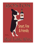 Boston Red Table Wine Limited Edition by Ken Bailey
