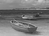Small Fishing Boats in the Turquoise Sea, Mauritius, Indian Ocean, Africa Photographic Print
