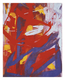 Andy Warhol - Abstract Painting, c. 1982 (indigo, red, white) Plakát