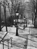 Steps to Montmartre, Paris, France Fotografie-Druck von Walter Bibikow