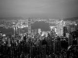 Victoria Harbour og horisonten fra Peak, Hong Kong, Kina Fotografisk trykk av Jon Arnold