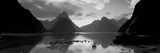 South Island, Milford Sound, New Zealand Fotografisk tryk af Panoramic Images,